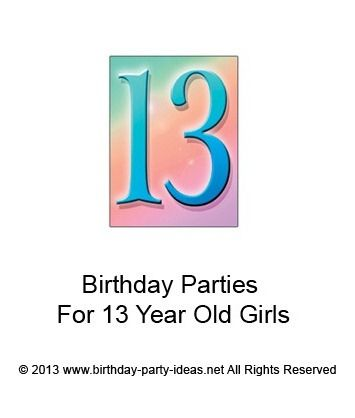 birthday party ideas for 13 yr old girls birthday party
