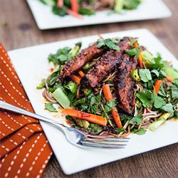 The sauce on this Vietnamese Noodle Salad is TO DIE FOR!  + A Cookbook giveaway from Nick Evans.