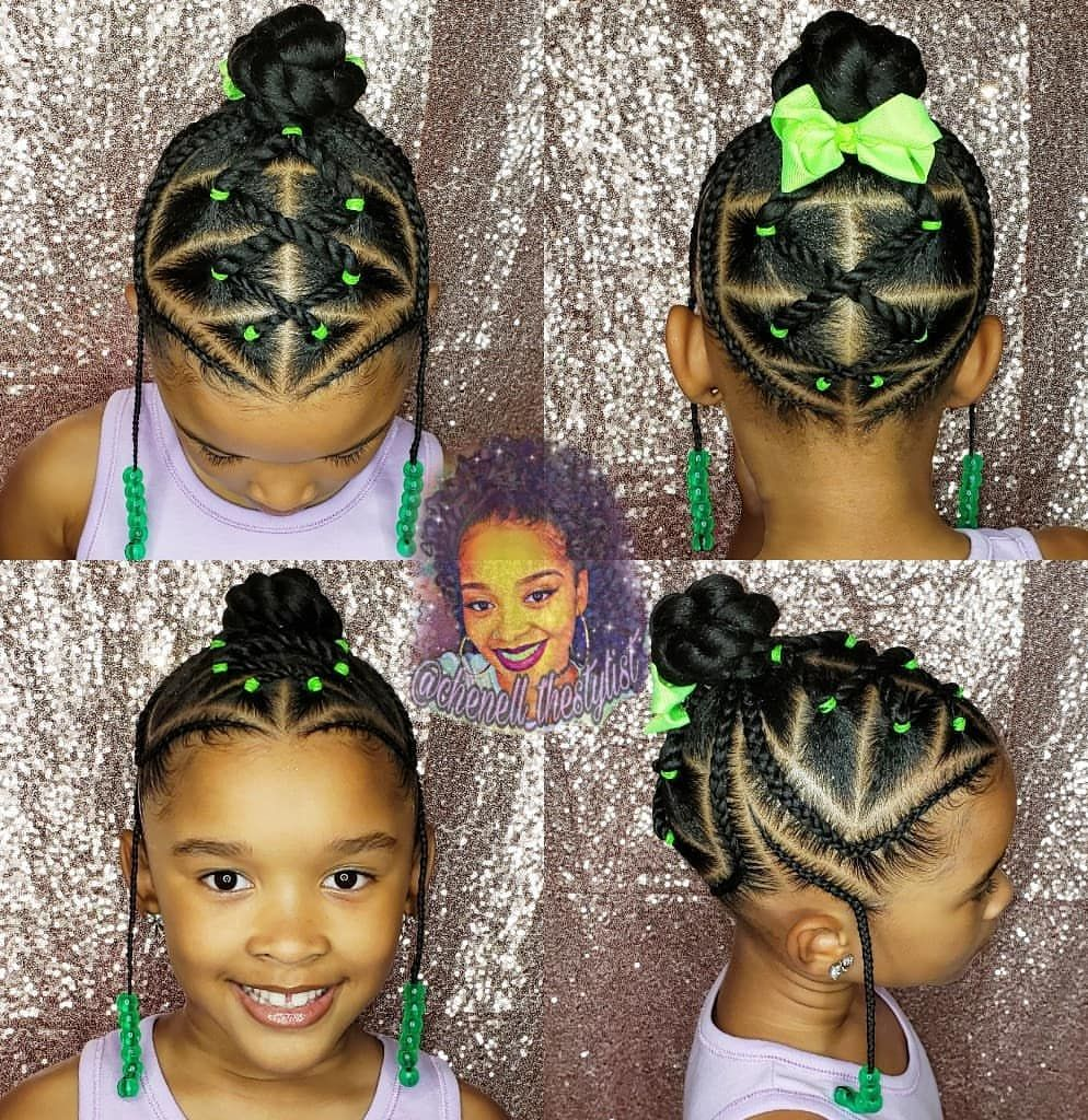 Back to school hair for my princess💚👸🏽💚 #12stylist