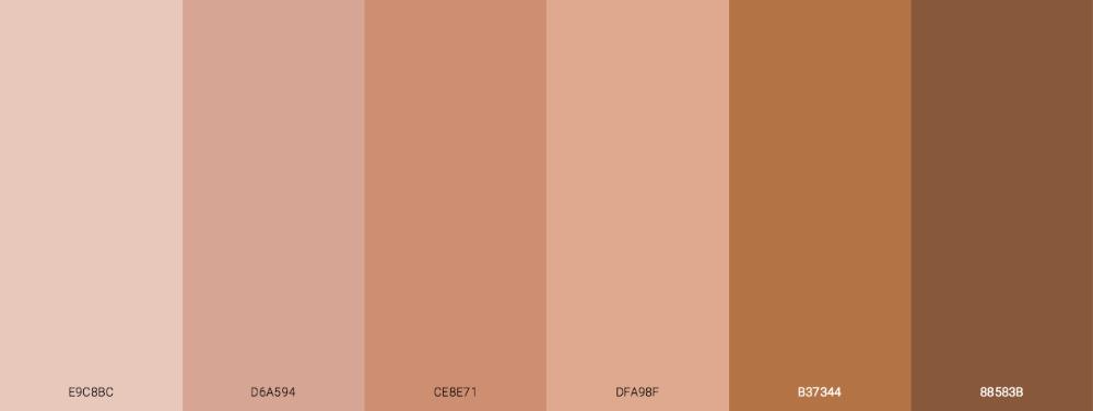 Most Common Human Skin Tone Colors Blog Schemecolor Com Colors For Skin Tone Beautiful Skin Tone Perfect Skin Tone