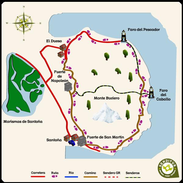 Mapa Ruta Faro Del Caballo Mapas Rutas Rutas Turismo