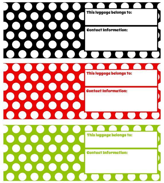 Printable Luggage Tags Darling Doodles Luggage Tags Printable Luggage Tag Template Luggage Tags Diy