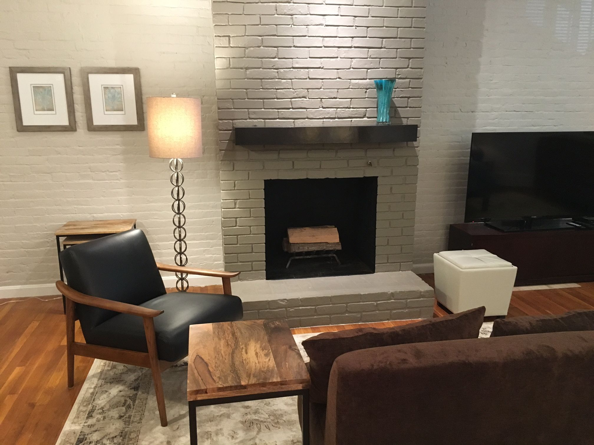 A midcentury modern furnished apartment available now and