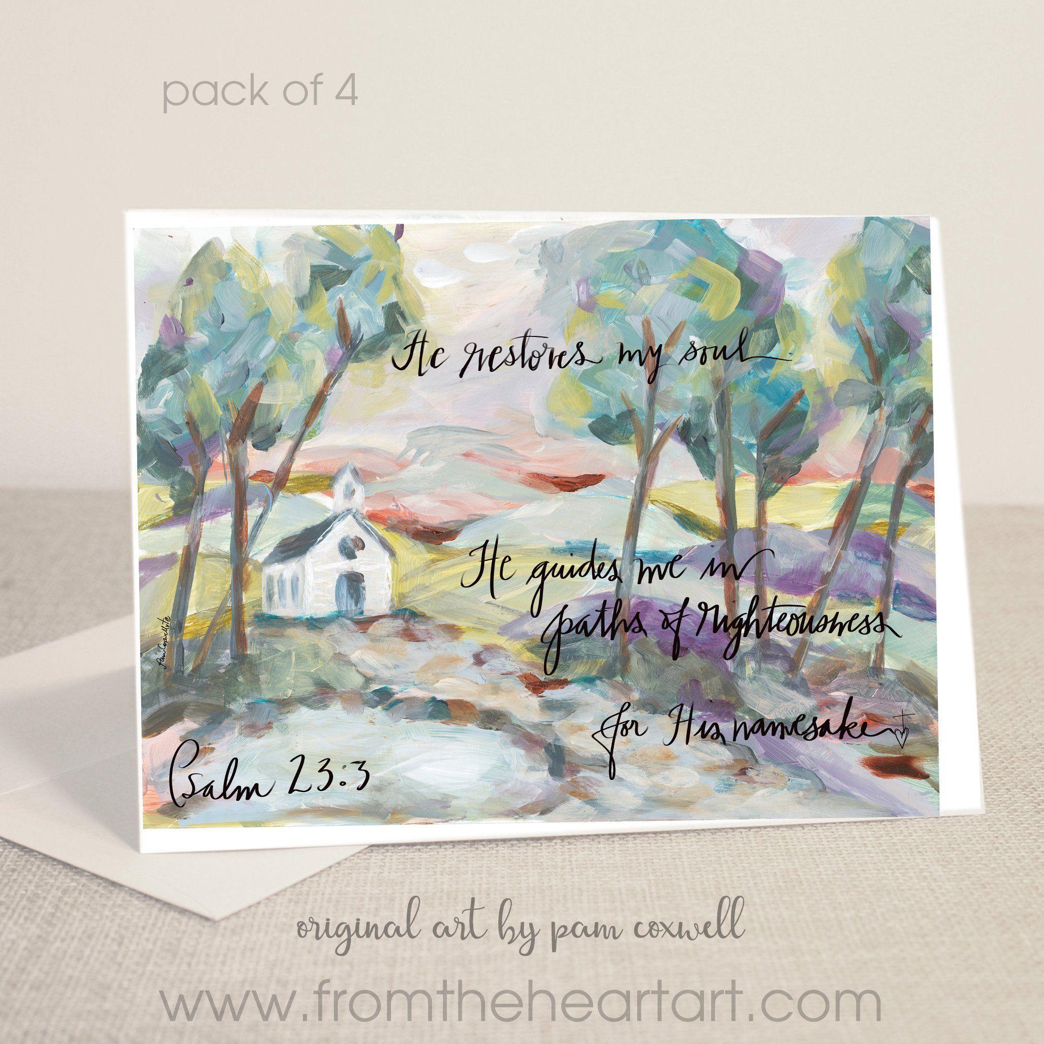 He Restores - Single Notecard