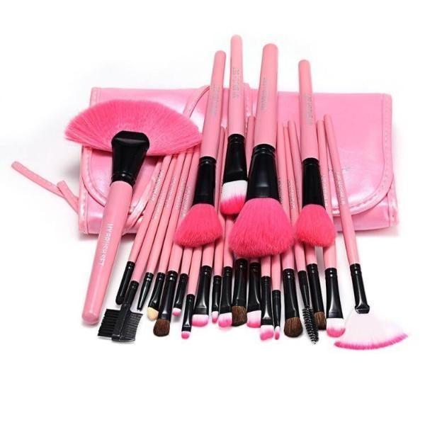 Photo of Pink Glory 24 Piece Makeup Brush Set