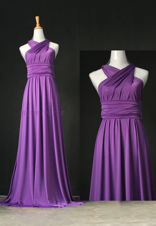 Bridesmaid Dress Infinity Dress Full Length Wrap Convertible Dress ...