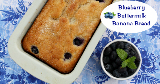 Mommy's Kitchen - Recipes From my Texas Kitchen: Blueberry-Buttermilk Banana Bread