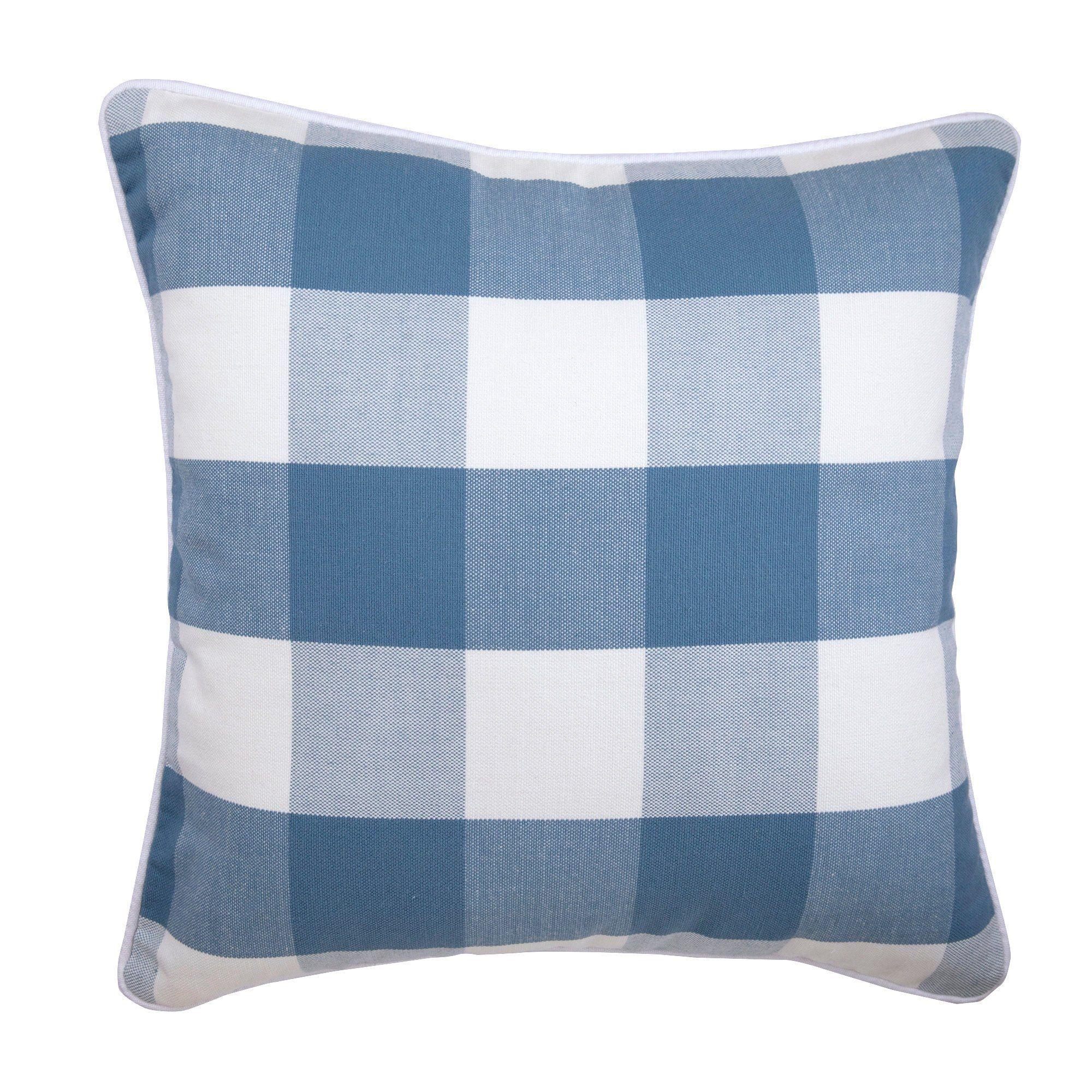 Buffalo Checks Blue Cushion Pillow 16x16 Etsy Buffalo Check Throw Pillow Decorative Throw Pillow Covers Pillows