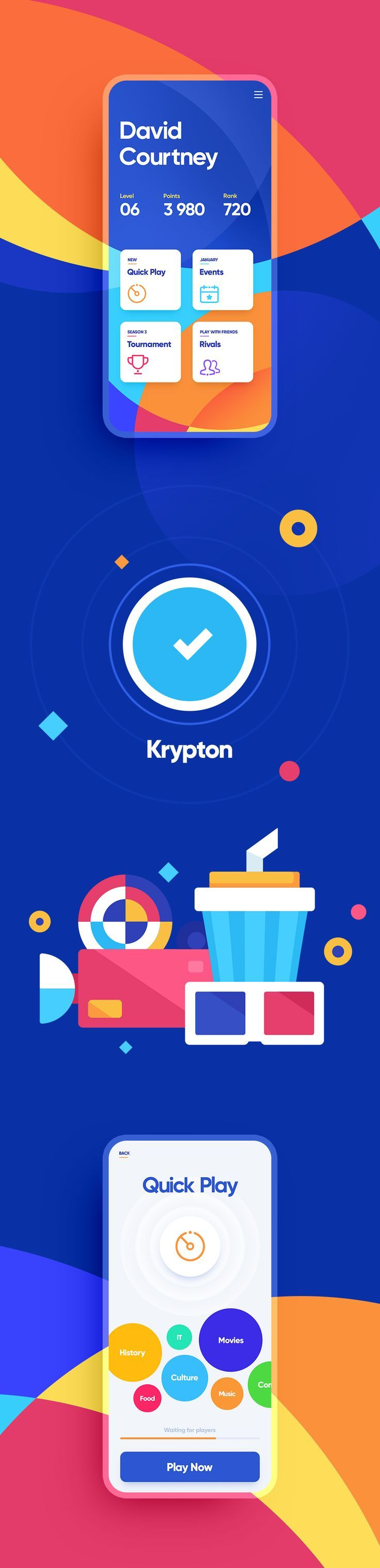 Ios app game quiz loading slider menu animation