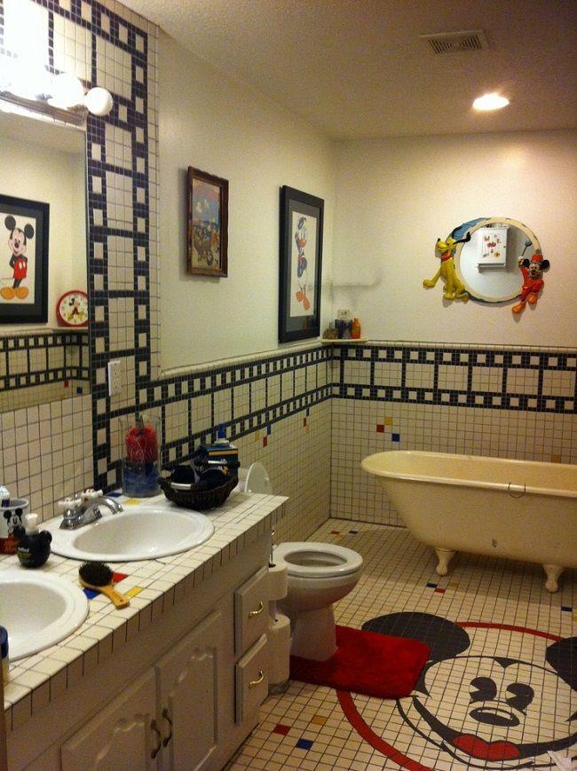 Awesome Disney Home Decor Ideas Part - 3: Disney Mickey Mouse Bathroom Home Decor Designs Ideas Home Decor Pertaining  To Disney Home Decor Disney Home Decor
