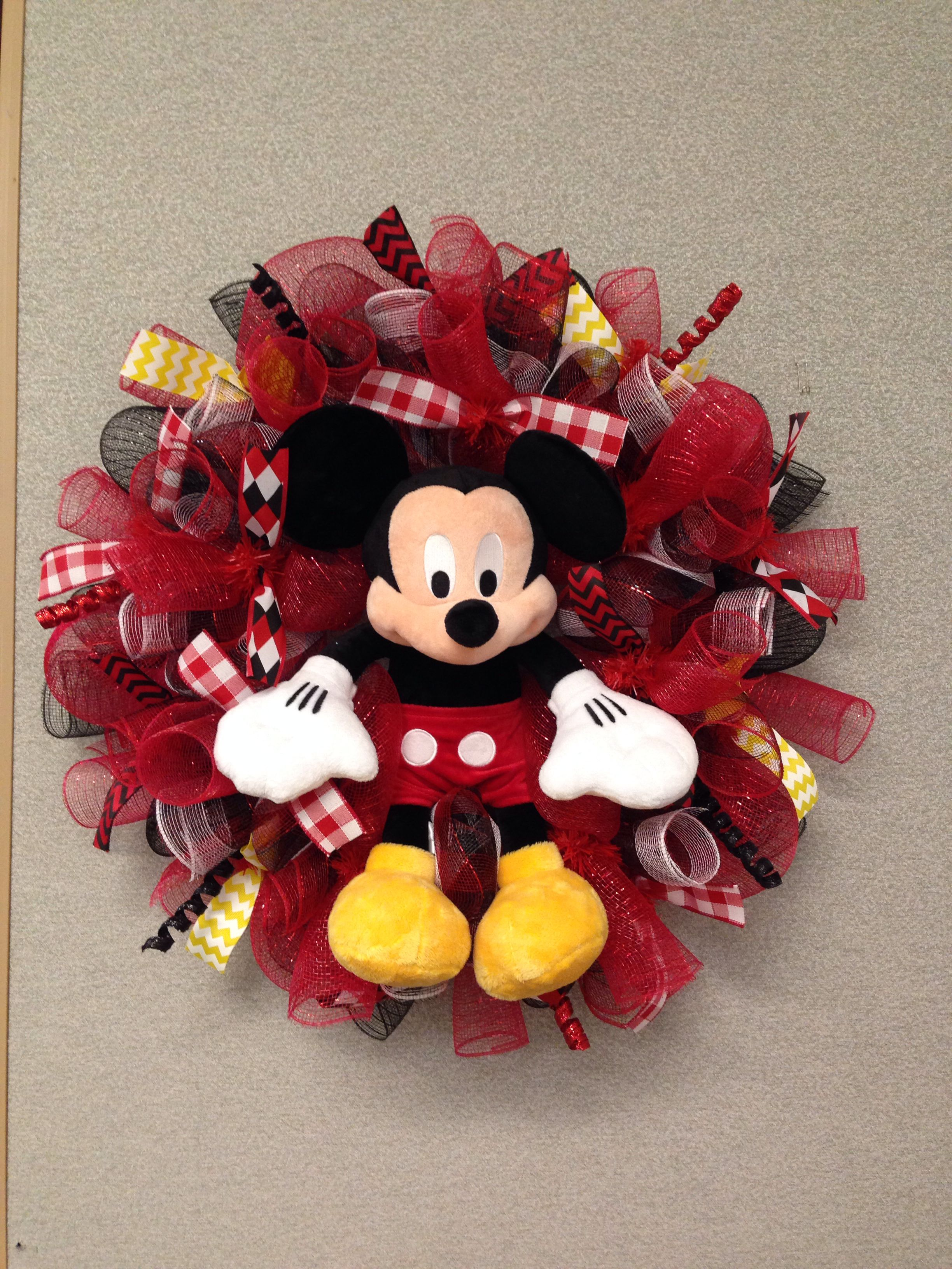 Mickey Mouse mesh wreath
