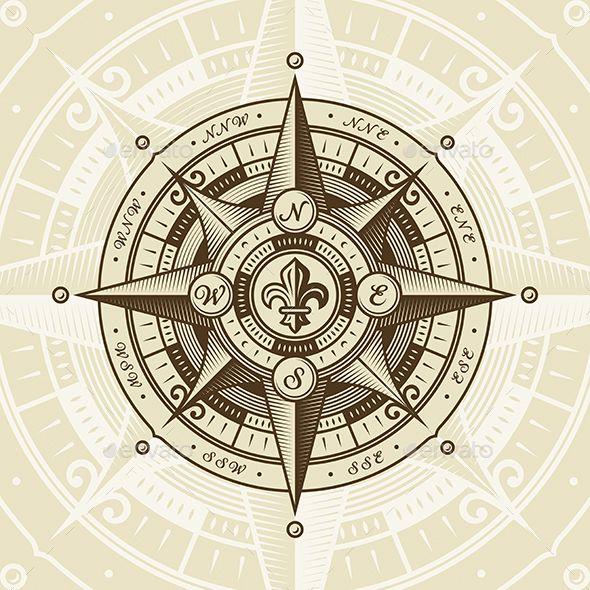 Vintage Nautical Wind Rose Nautical Compass Tattoo Wind Rose Compass Tattoo