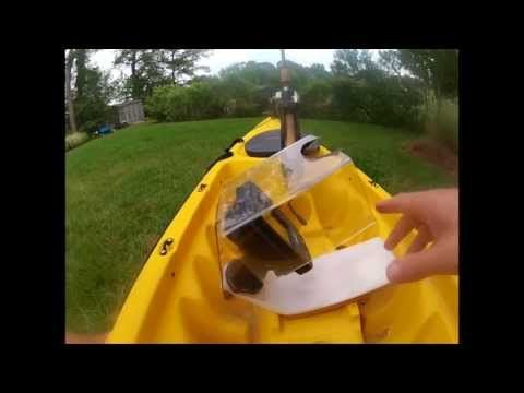 Installing a Lowrance X-4 fish finder on a kayak with in-hull transducer - YouTube