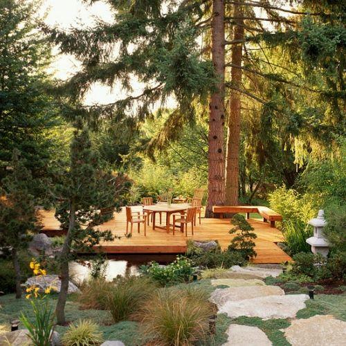 ideas for garden deck detached designs floating deck in a pond