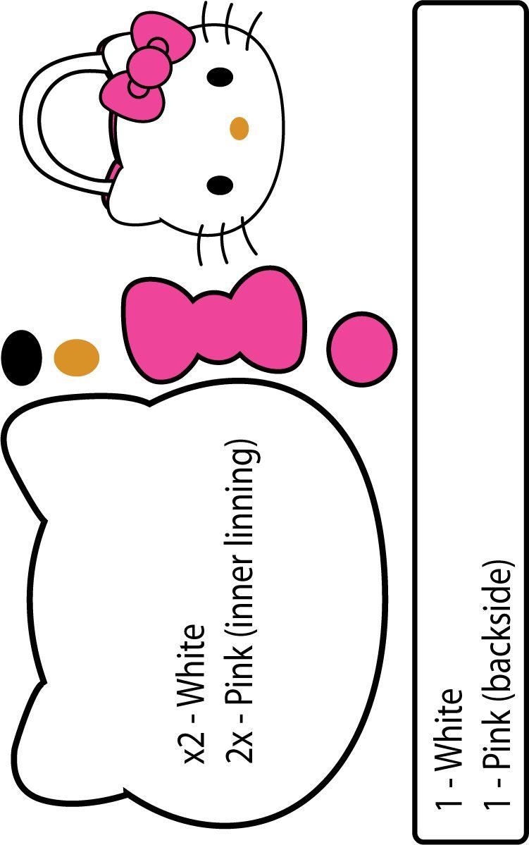 Hello Kitty molde | carpetas | Moldes, Patrones y Manualidades