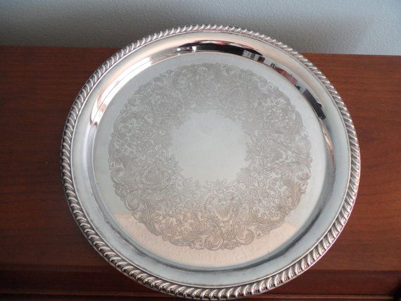 Vintage Silver Plated Tray Made by International by SilveryLane $19.00 & Vintage Silver Plated Tray Made by International Silver Company ...