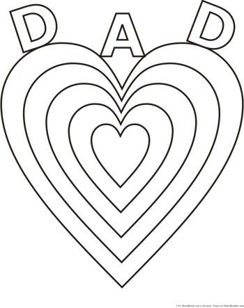 Love You Dad Fathers Day Coloring Pages For Kids Free Christian