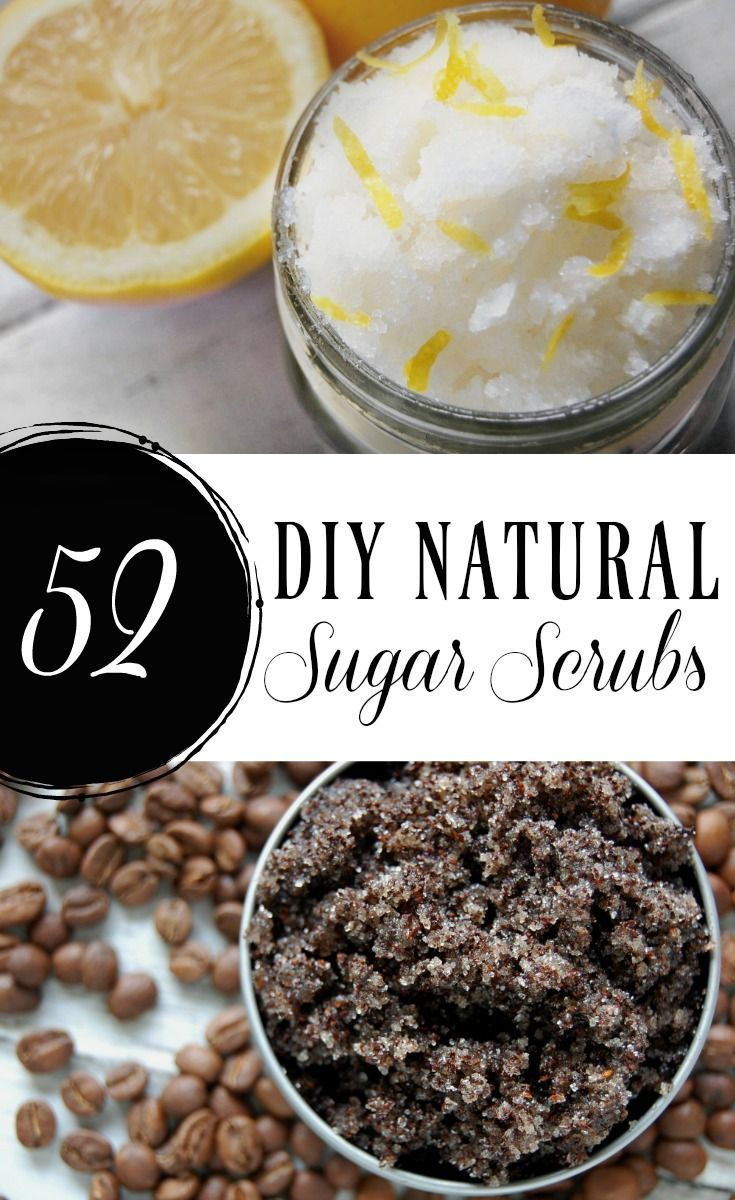 DIY sugar scrubs are incredibly easy to make and you likely already have the ingredients to make them! Here are 52 DIY natural sugar scrubs for you to make! That's one for each week of the year! #sugarscrubs #natural #diy #skincare #scrubs #naturalskincare #greenbeauty #diygifts #SkinCareForSensitiveSkin