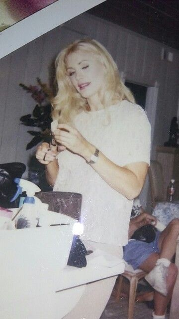 Candid Shot Of Shannon Tweed While Filming Dark Dancer