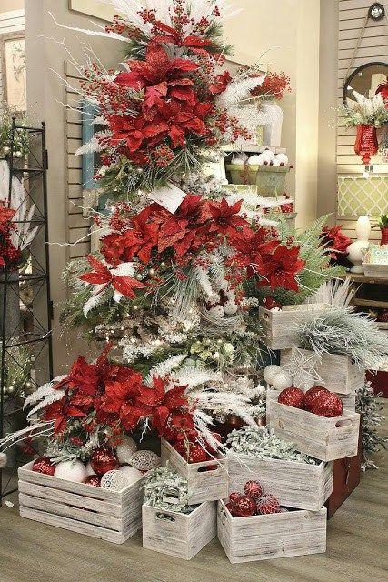 Decoraciones Navideñas Con Cajas De Madera Dale Detalles Decoracion De Arboles Decoracion Arbol De Navidad Ideas Para Arboles De Navidad