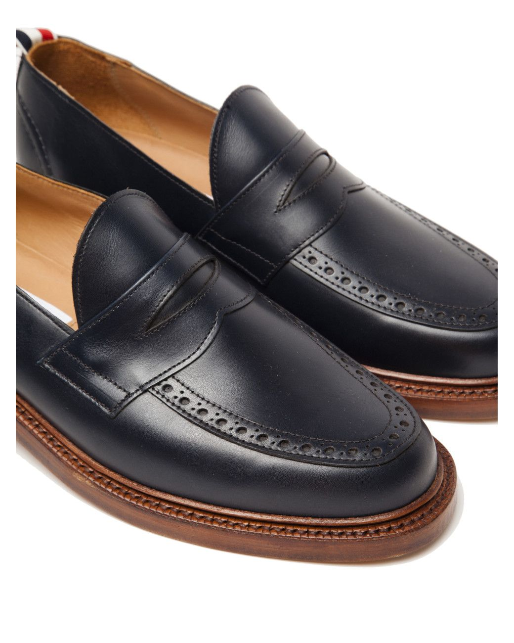 c4c8720667a Thom Browne Men s Penny Loafer With Leather Sole (calf Leather)  1340