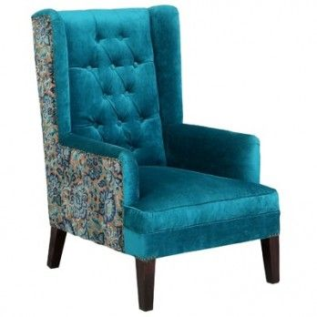 Wingback Chair   Buy wing chairs online India at best Prices  Wooden Street  provides huge collection of modern wingback chair for sale with great  discount. Coral  Wing  Chair  Electric Turquoise  available online in India
