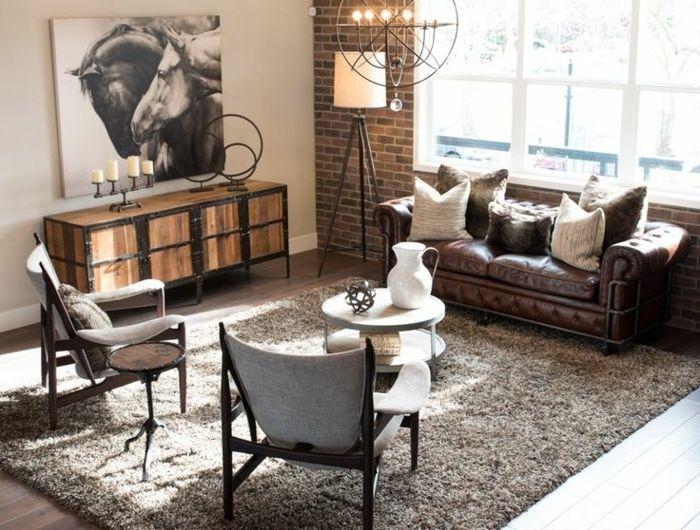 ▷ 1001 + conseils et idées pour aménager un salon rustique | Right ...