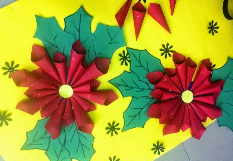 School Christmas Craft Ideas Part - 45: Art ,Craft Ideas And Bulletin Boards For Elementary Schools: Christmas  Flower