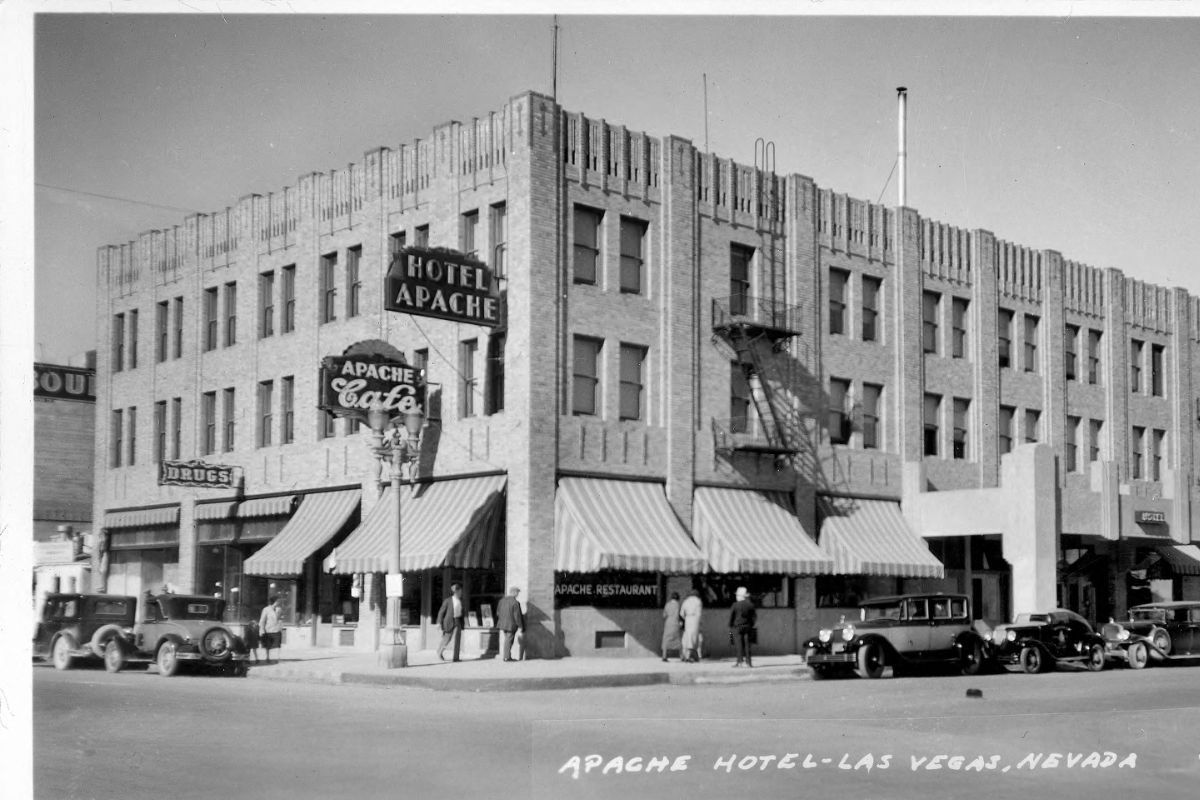 Apache Hotel Downtown Las Vegas 1932 Later Became Binion Rsquo