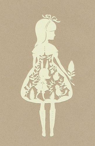 art, girl, paper, papercut, sillhouette