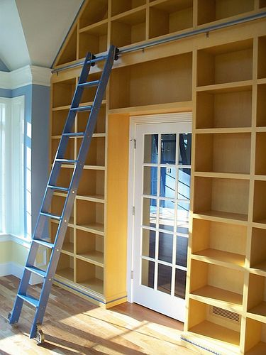 Library Ladder Bookcase Building Shelves Home House