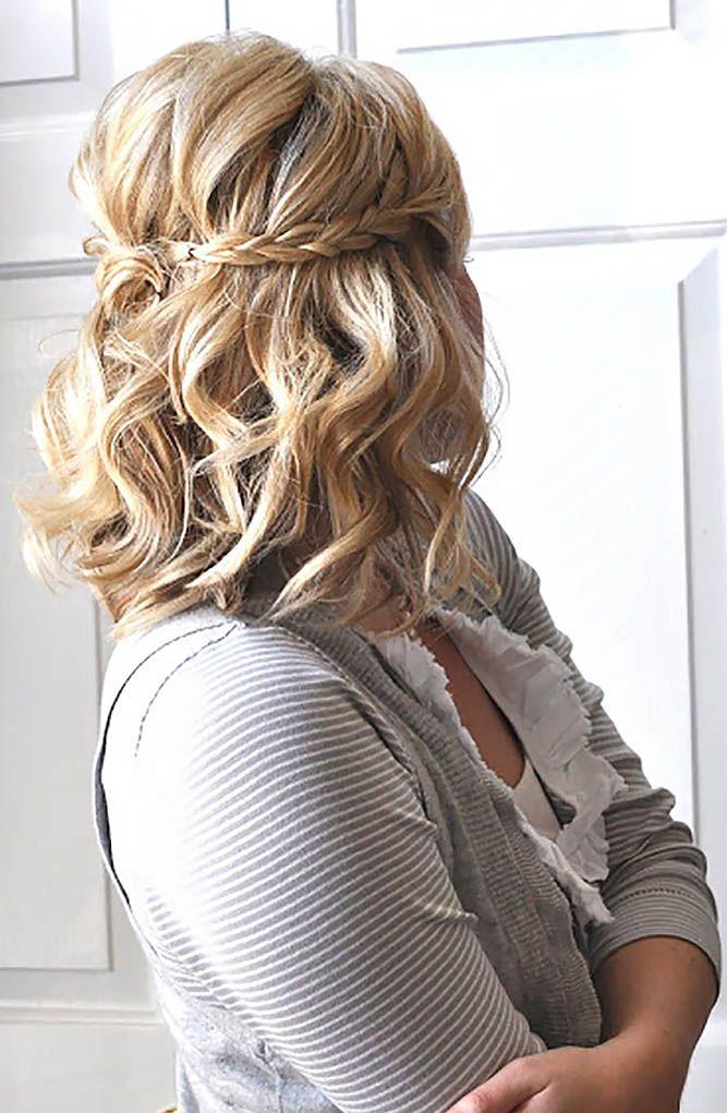 48 Perfect Bridesmaid Hairstyles Ideas Wedding Forward Hair Styles Hair Lengths Medium Hair Styles For Women