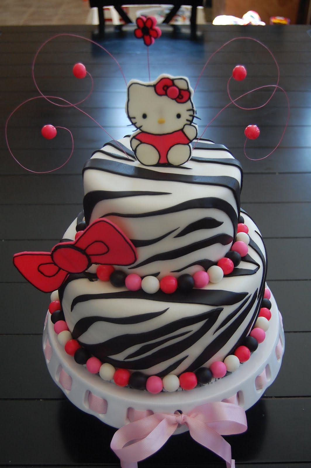 Hello Kitty Zebra Cake Edible Elegance Hello Kitty Zebra Sweet