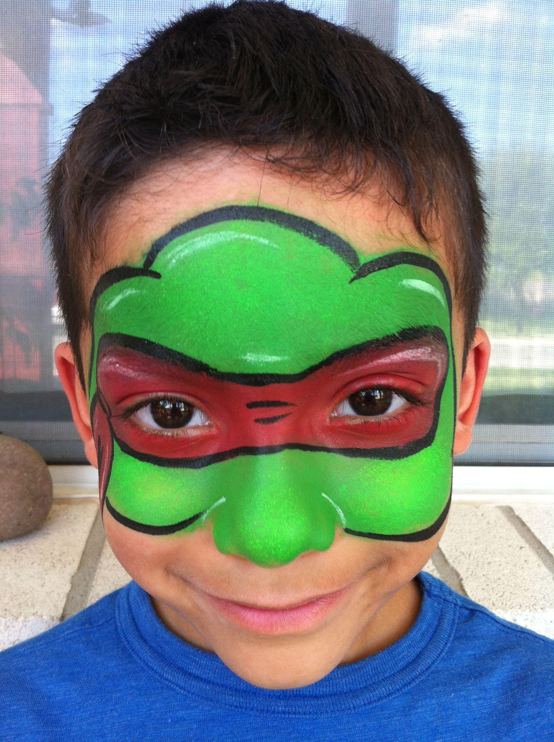 ninja turtle face paint face painting pinterest kinder schminken kinderschminken und basteln. Black Bedroom Furniture Sets. Home Design Ideas