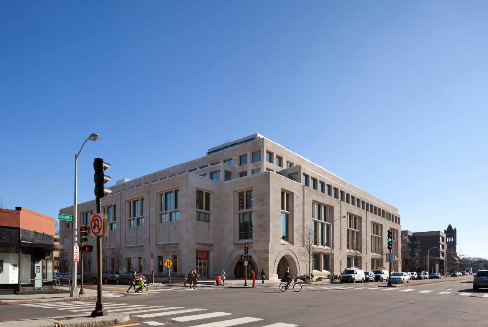 Wasserstein Hall, Caspersen Student Center, and Clinical