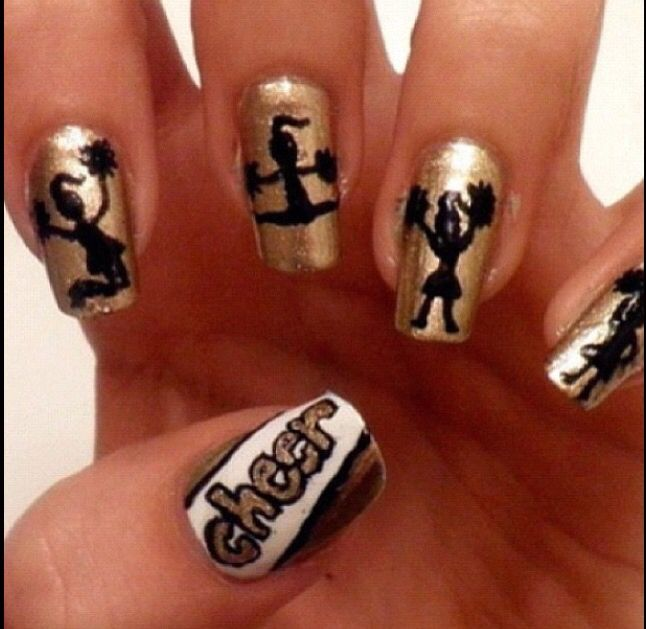 Love These Cheer Nails Nail Art Pinterest Cheer