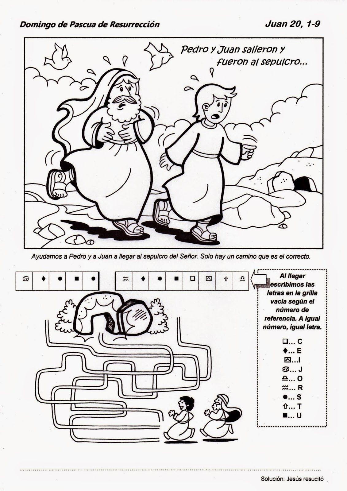 Domingo De Pascua Ciclo B Escuela Dominical Para Ninos Actividades De La Escuela Dominical Manualidades Para Escuela Dominical