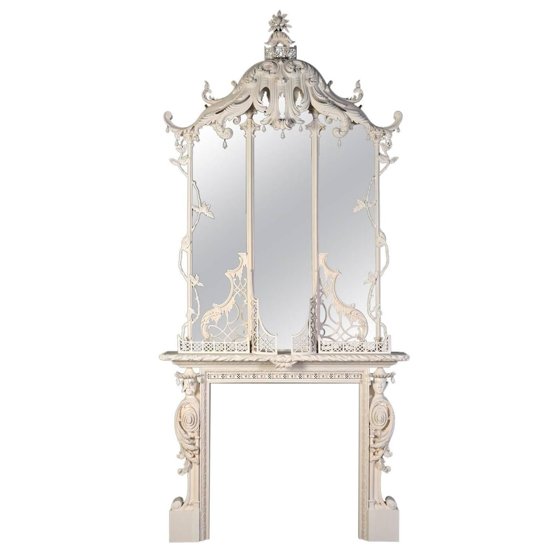 gold chinoiserie pagoda mirror on onekingslane com design