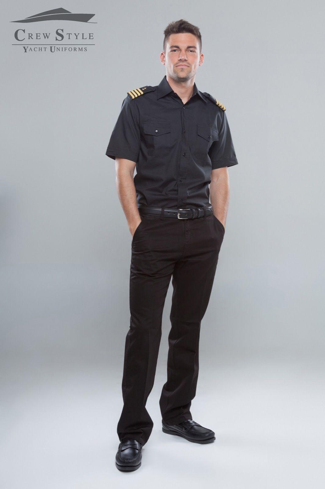 Total Black Captain Uniform Yacht Uniform Yacht Wear Black