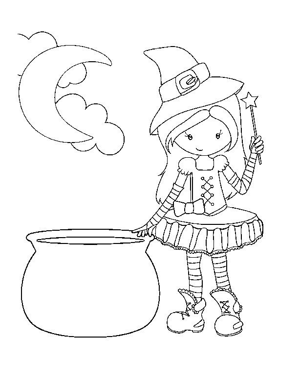 Best Ideas About Cute Halloween Coloring Sheets For Kids Save Or Pin Cute Fr Witch Coloring Pages Halloween Coloring Pages Halloween Coloring Pages Printable