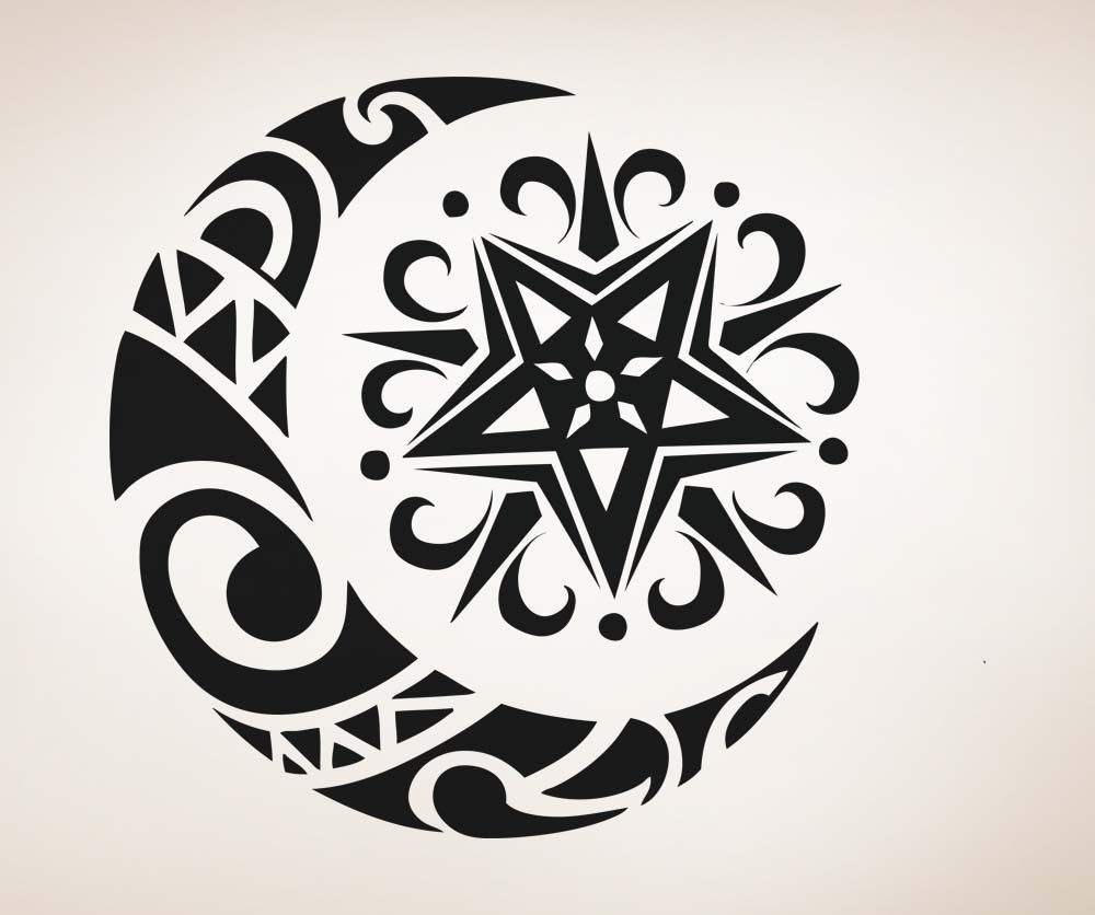 Celtic moon and star | Ink it! | Pinterest | Tattoo