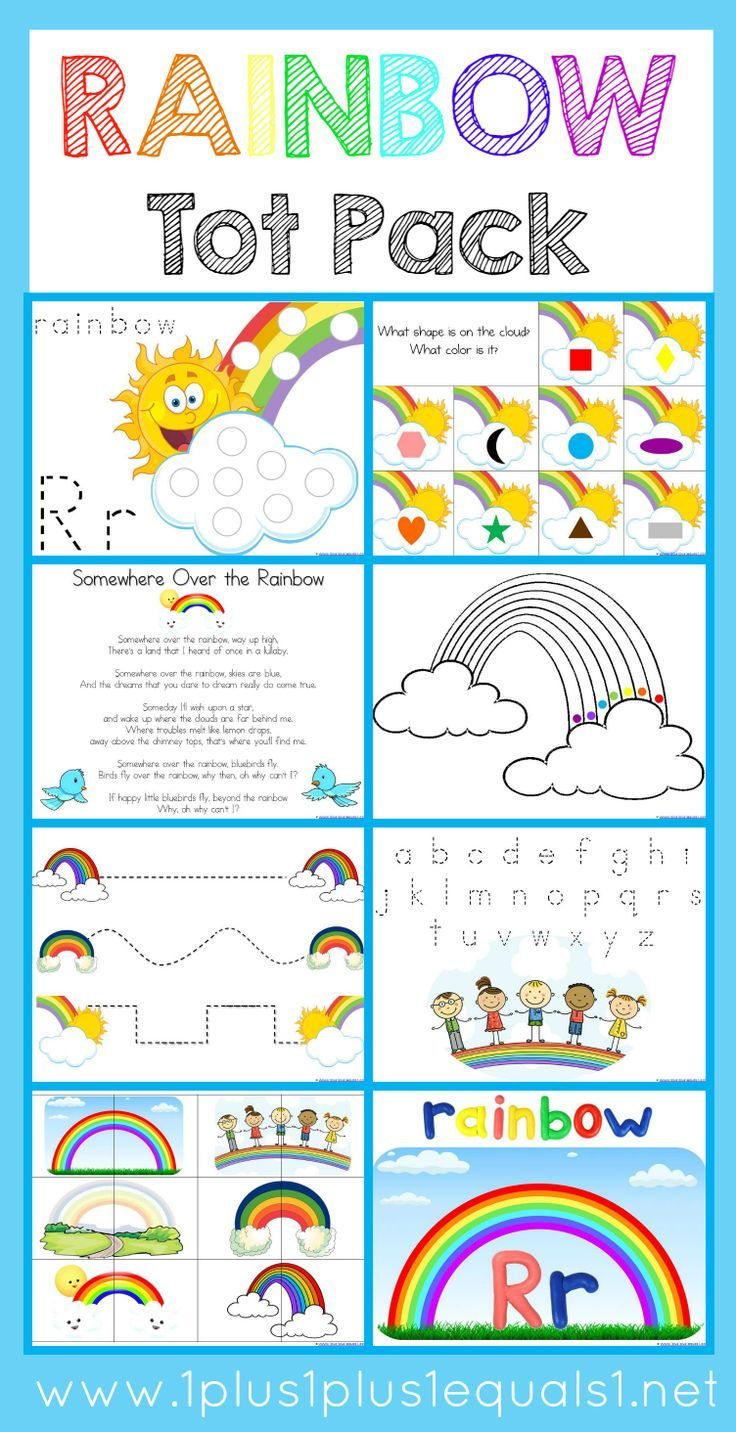 Rainbow Tot Pack Home Preschool Rainbow Theme