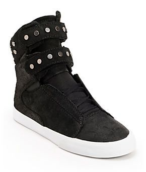 Supra Womens TK Society Studded Black Waxed High Top Shoes at Zumiez   PDP f0b82a4d71f6