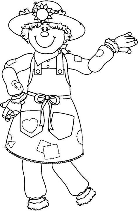 Scarecrow Lady Coloring Page Coloring Pages
