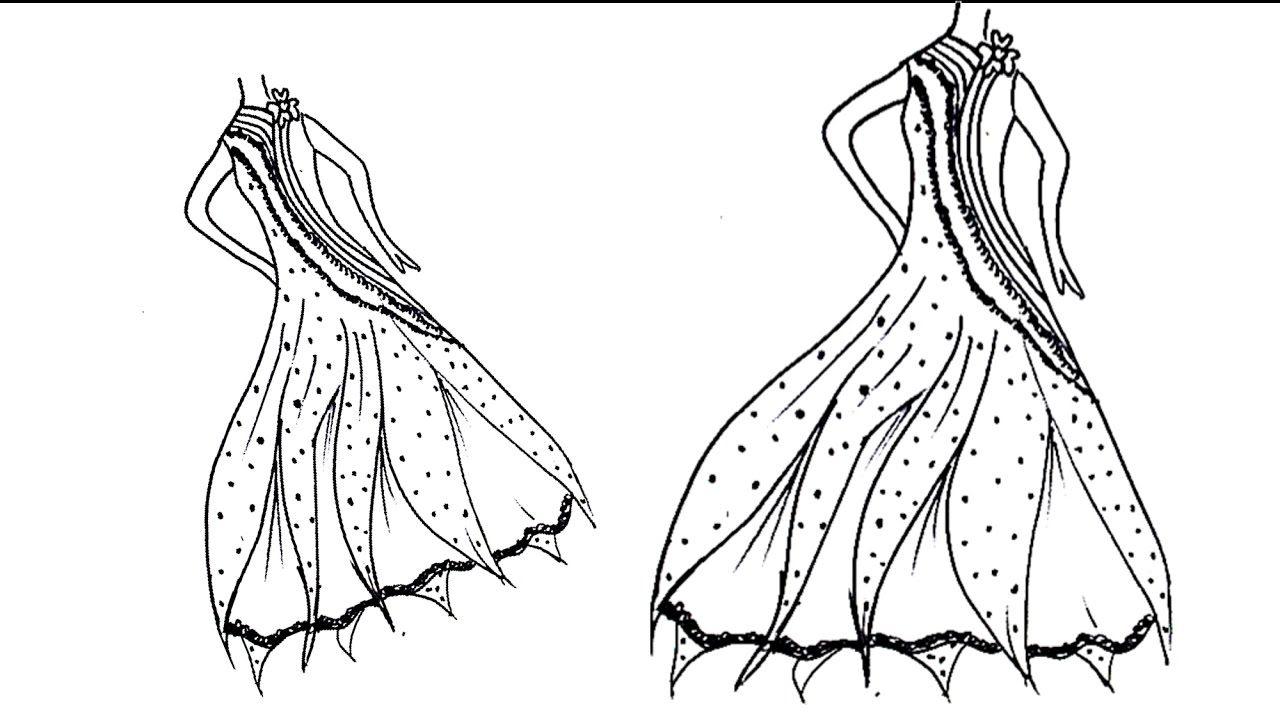 الدرس 3 تعلم رسم فستان Lesson 3 Learn To Draw Dress Learn To Draw Hand Art Drawings