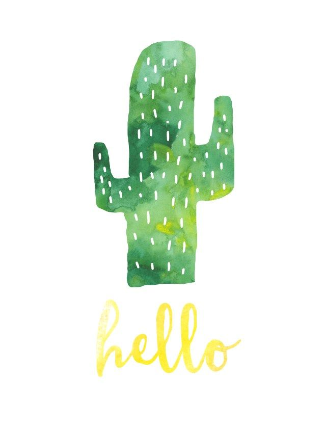 It's just a graphic of Gutsy Free Cactus Printable
