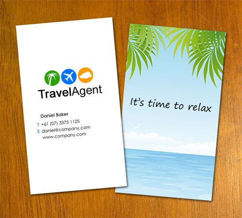 Like This Free Business Card Templates Agency Business Cards Travel Consultant Business