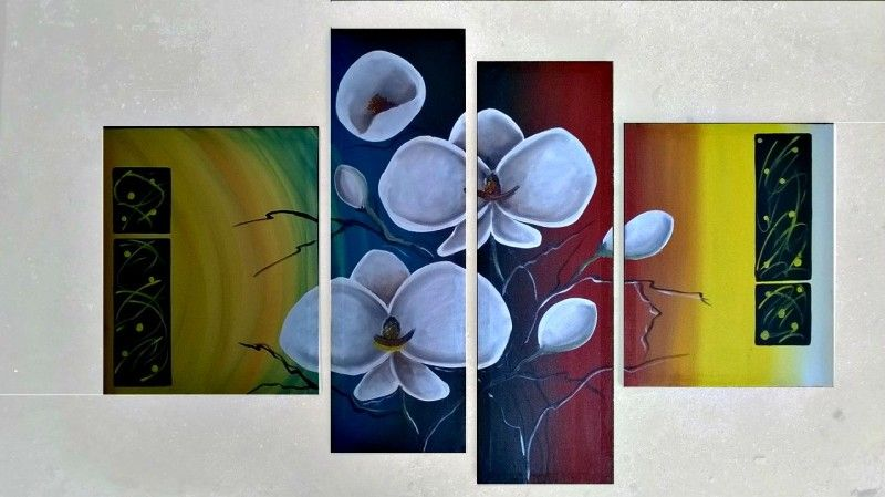 Oleo Abstracto Minimalista - $ 750.00 en MercadoLibre