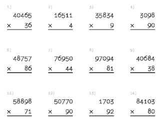 Hojas De Ejercicios De Multiplicaciones Para Imprimir Todosobresaliente Com Ejercicios De Calculo Multiplicacion Multiplicacion Ejercicios