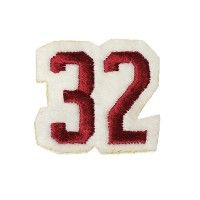 Ecusson thermocollant Numéro maillot 32